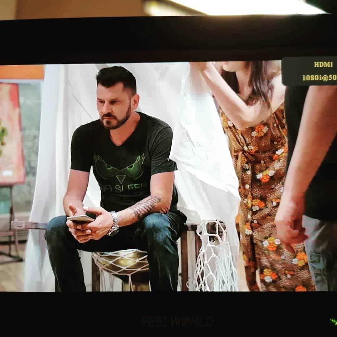 Marko Marinkovic na snimanju serije LJUBAVNI ZALOGAJI