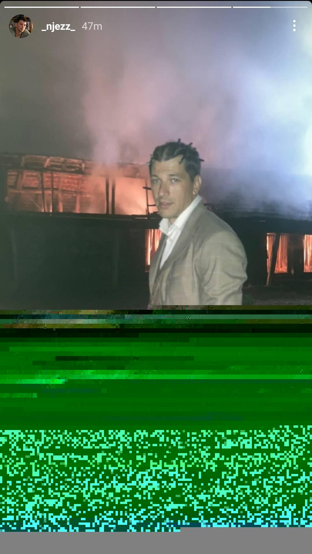 """Viktor Savić na snimanju filma """"Bilo jednom u Srbiji"""", Foto: Instagram / _njezz_"""
