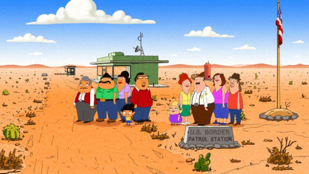 BORDERTOWN (working title): A new animated comedy from FAMILY GUY's Mark Hentemann and Seth MacFarlane, BORDERTOWN is a satirical look at the cultural shifts taking place in America. Exploring family, politics and everything in between with a cross-cultural wink, the series centers on two very different families living in a fictional Southwest desert town on the U.S. - Mexico border. BORDERTOWN will join the schedule in 2015 on FOX. BORDERTOWN ™ and © 2014 TCFFC ALL RIGHTS RESERVED.